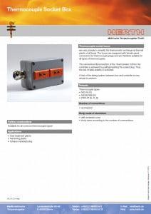 TMC Instruments; thermokoppel aansluidozen specblad db015