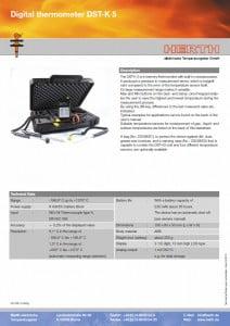 TMC Instruments; Herth digitale temperatuurmeter pdf db009
