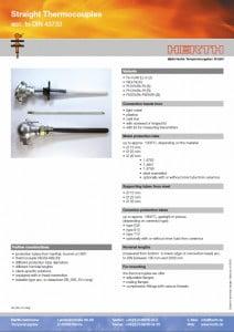 TMC Instruments; Herth rechte thermokoppels pdf db004