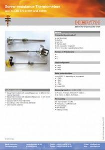 TMC Instruments; Herth werstandsthermometers pdf db003