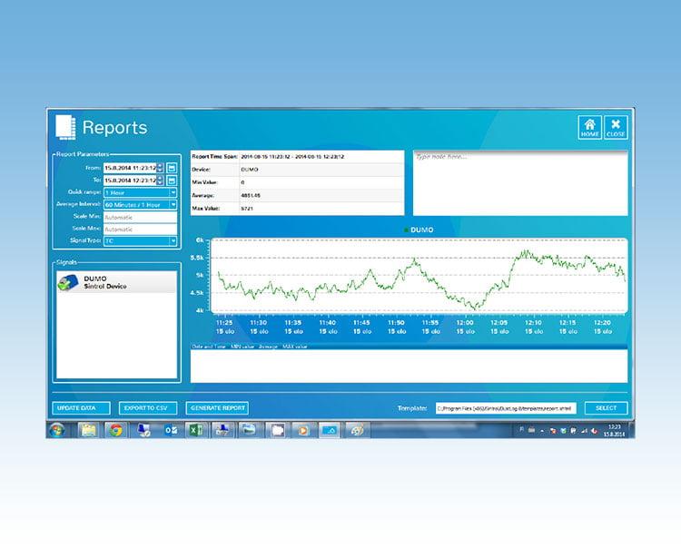 TMC Instruments; Sintrol dustlog 8 chart